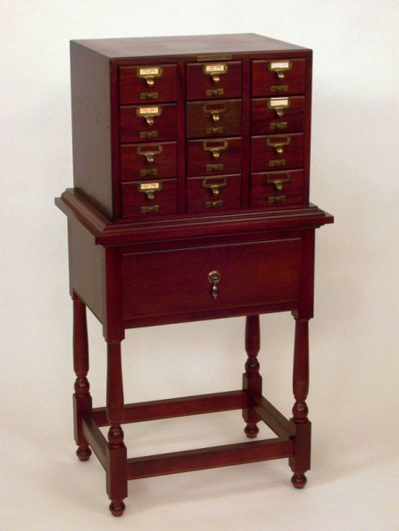 Portfolio Selected Pieces Cabinets Library Card Catalog Stand